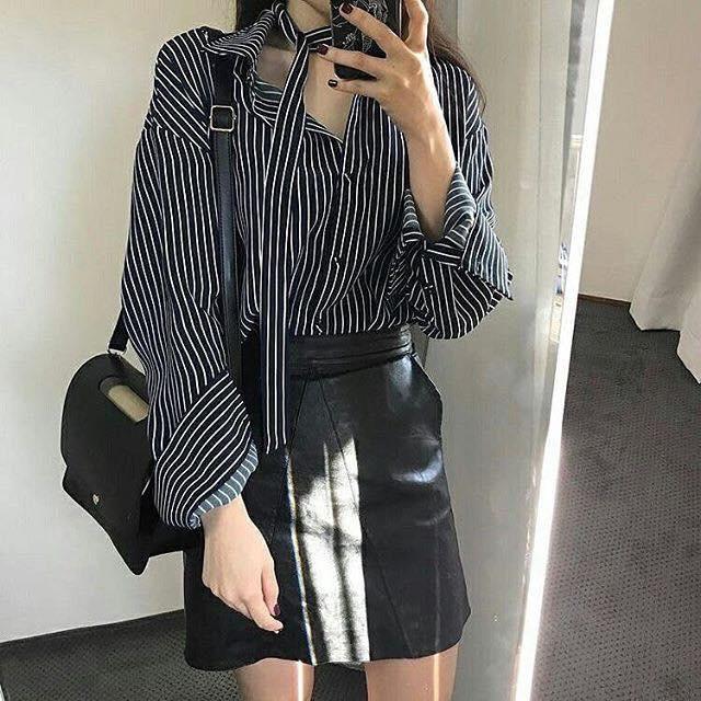 Chân váy Mini và áo sơ mi – Cặp đôi trời sinh không thể thiếu