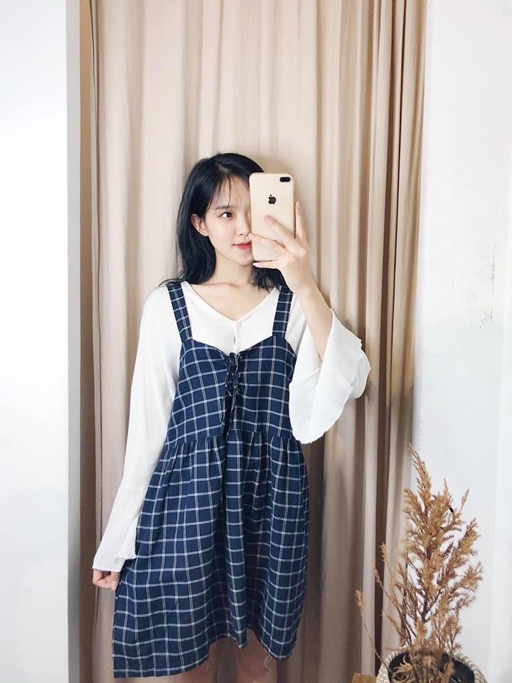 Váy yếm 2 dây – Đẹp ngất ngây cho nàng dạo phố