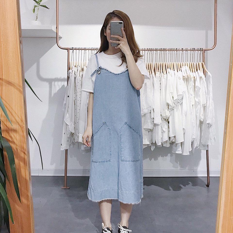 Váy yếm Jean – cho nàng thêm năng động