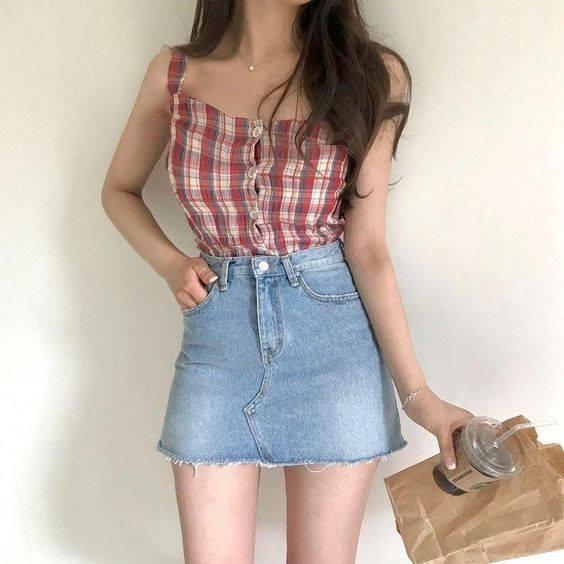 Chân váy jeans cho cô nàng thêm năng động, trẻ trungChân váy jeans cho cô nàng thêm năng động, trẻ trung