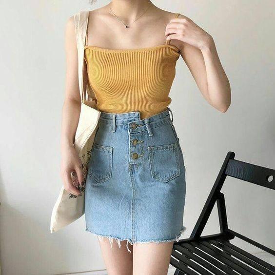 Chân váy jeans cho cô nàng thêm năng động, trẻ trung