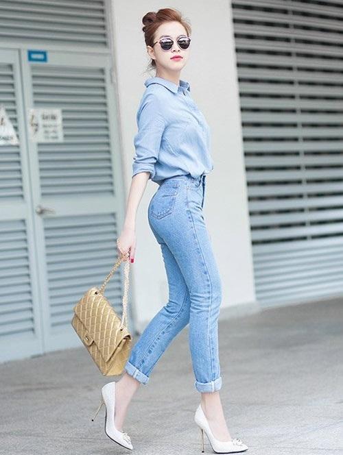 Lựa chọn và mặc quần jean cho các nàng siêu đẹp