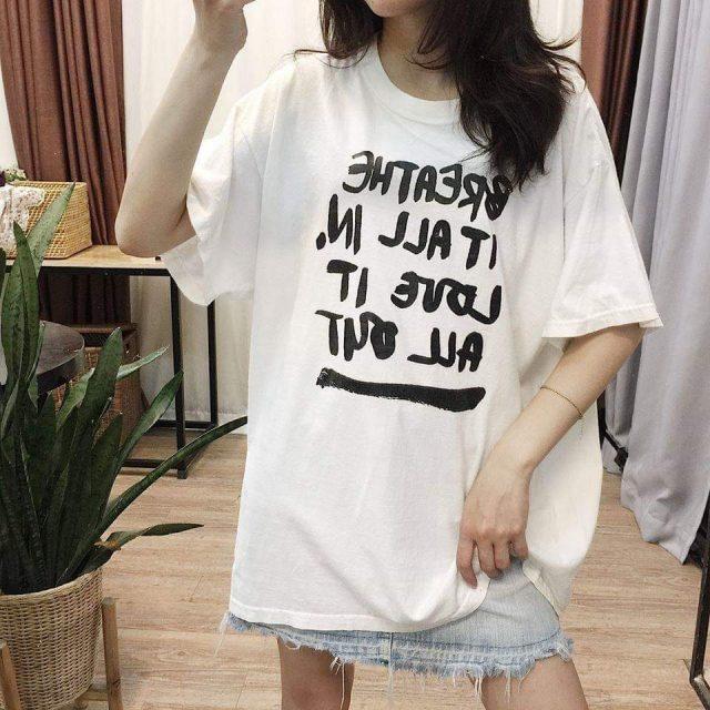 Áo phông trắng nhà Min cho các nàng tha hồ diện hè
