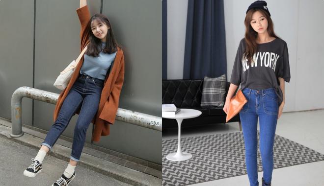 Cách mix đồ với quần Jean cạp cao siêu sành điệu cho các nàng