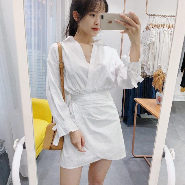 Những mẫu đầm trắng cho các nàng công sở tha hồ diện