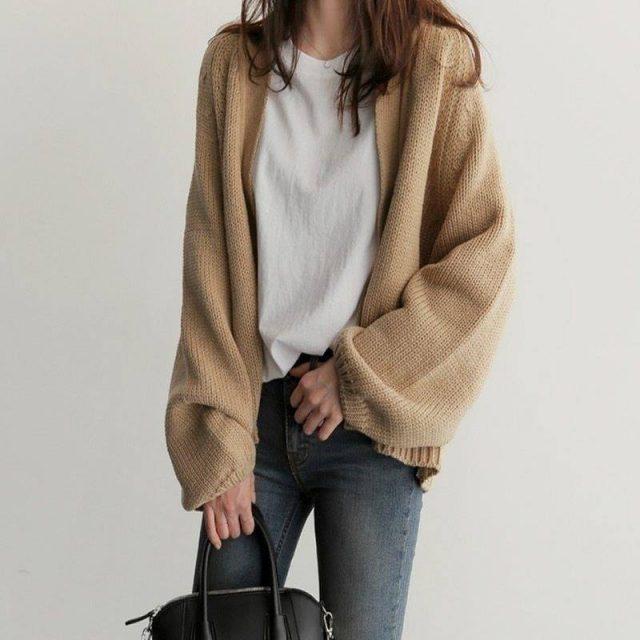 Áo khoác len cho nàng nhẹ nhàng khi dạo phố