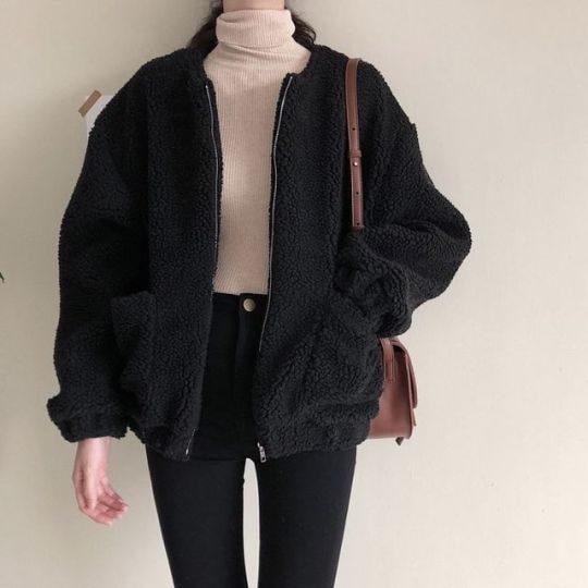 Áo khoác lông cừu cho các nàng mùa đông vừa ấm vừa xinh