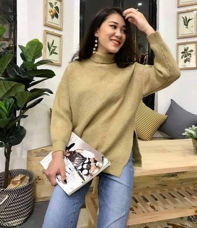 Áo len cổ lọ - item không thể thiếu của các nàng mùa thu đông