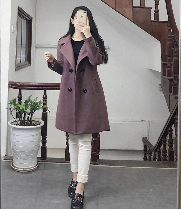 Áo khoác dạ dài cho các nàng vừa ấm lại vừa xinh