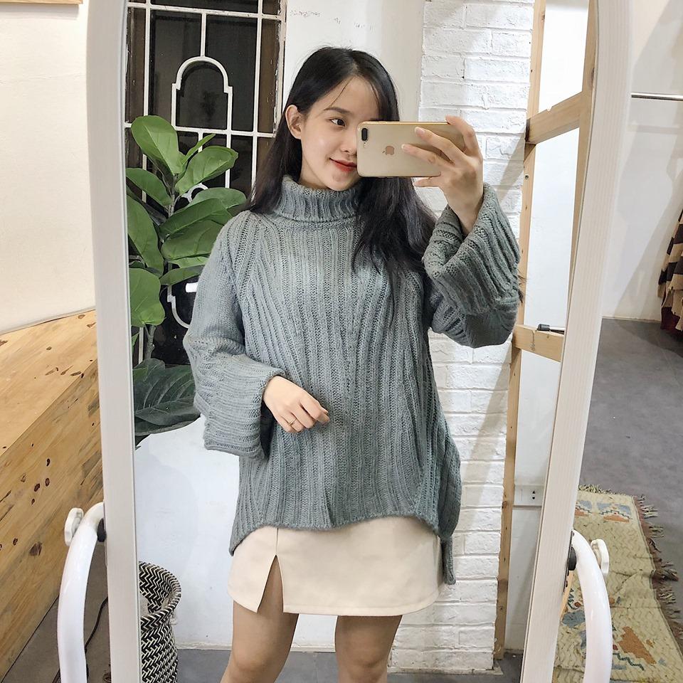 Áo len xám – item mùa thu hoàn hảo nhất cho các cô nàng sành điệu