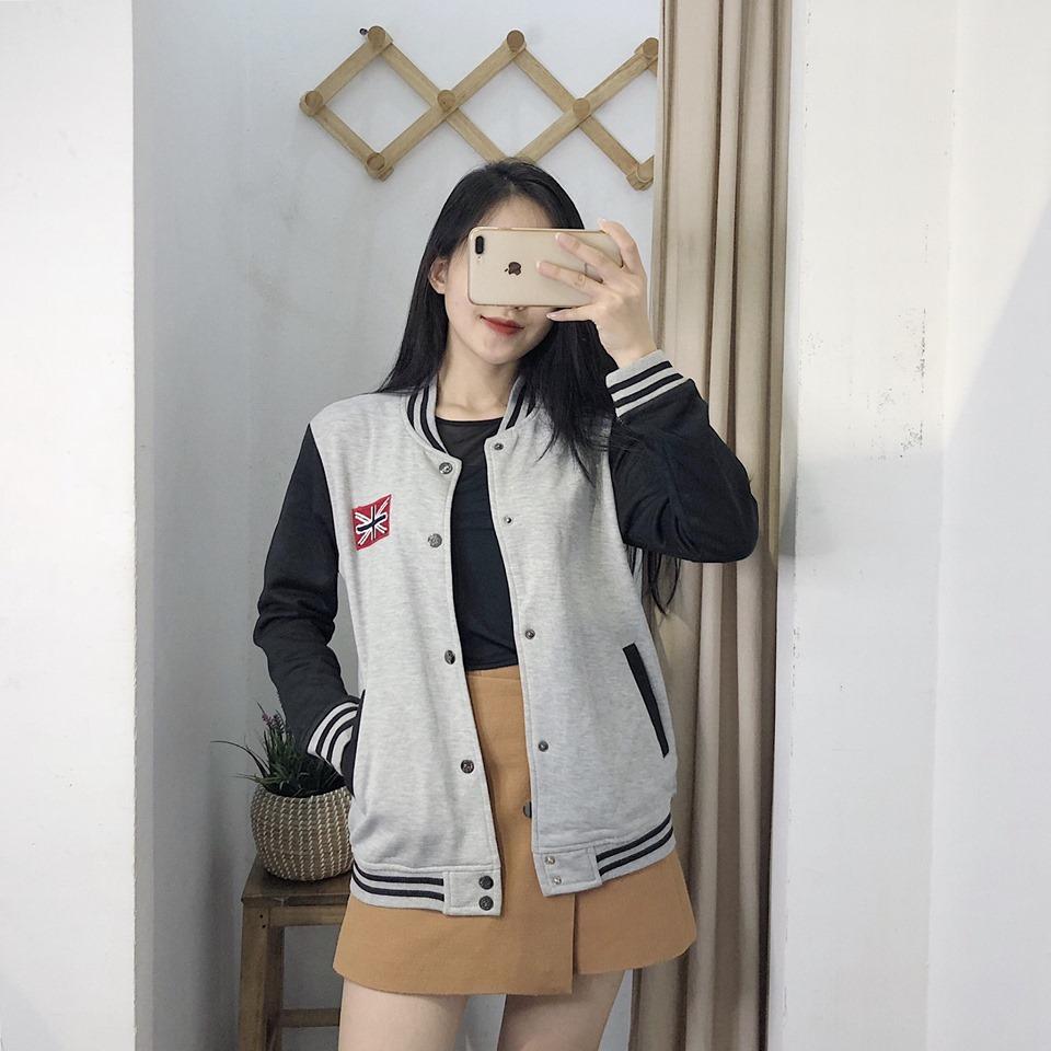 Hoá nàng học sinh năng động với áo khoác bóng chày