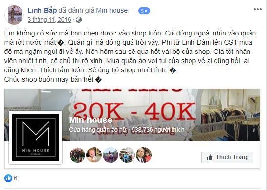 Min House – Địa chỉ bán hàng thùng tuyển chọn được nhiều bạn trẻ yêu mến
