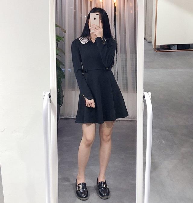 Mùa thu không thể bỏ lỡ váy liền thân tone đen quyến rũ