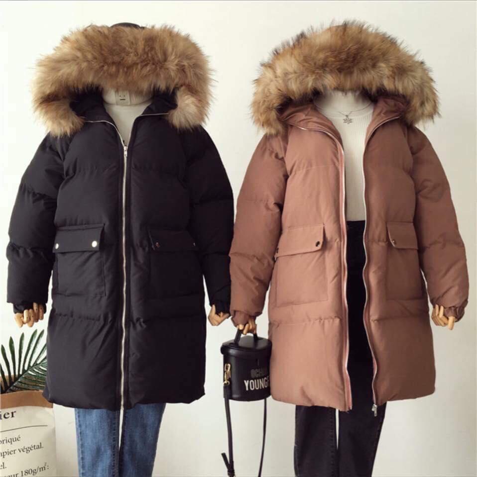 Áo khoác phao mũ lông – cho các nàng vừa năng động lại ấm áp