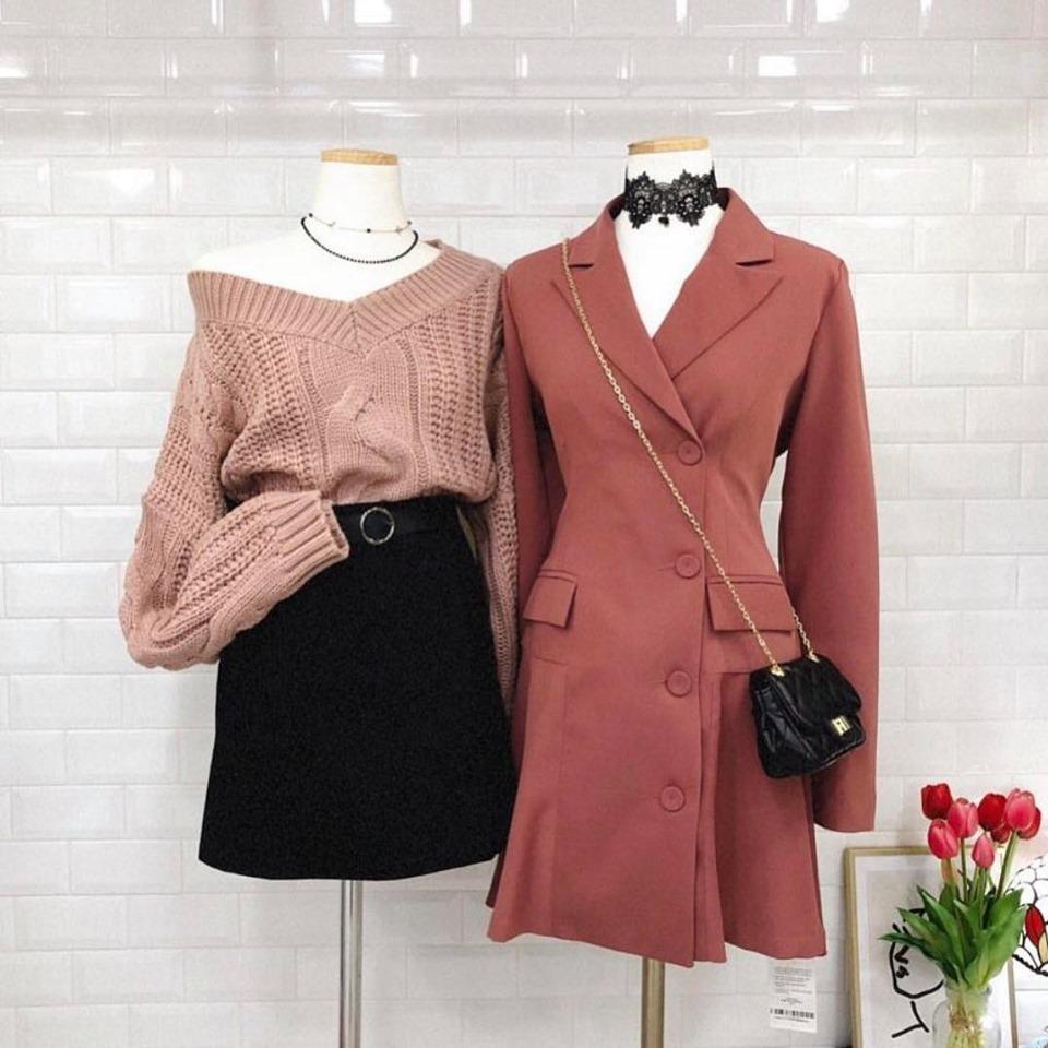 Diện đồ mùa thu đông chuẩn phong cách Hàn Quốc thời thượng