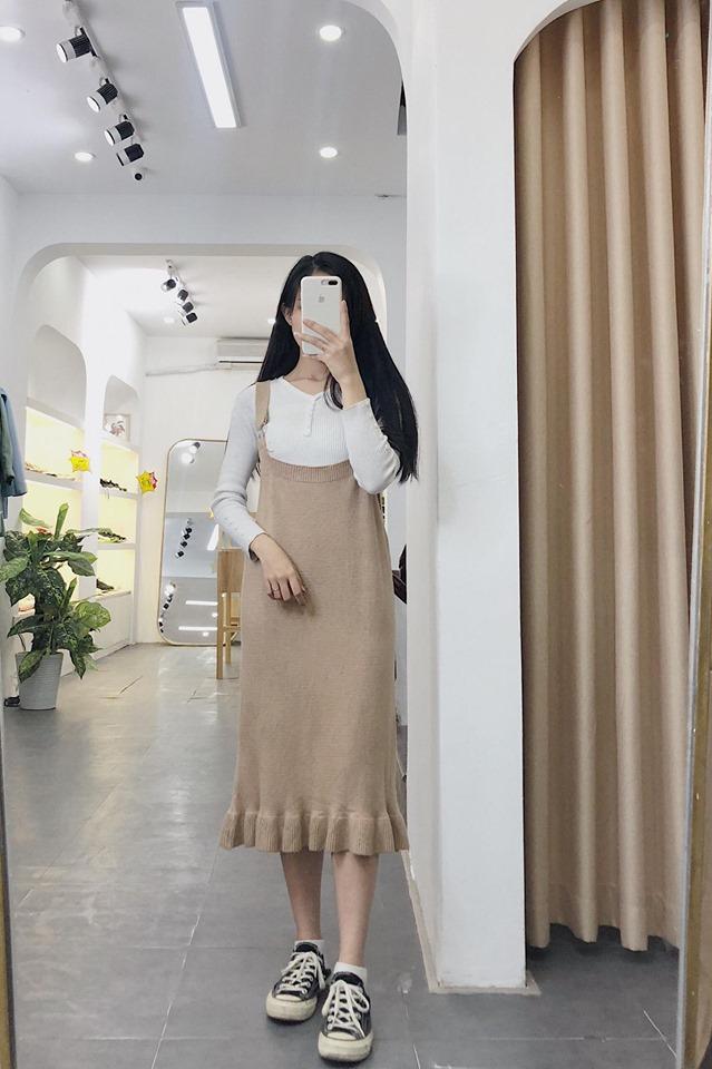 Mix váy 2 dây siêu xinh trong những ngày thu se lạnh