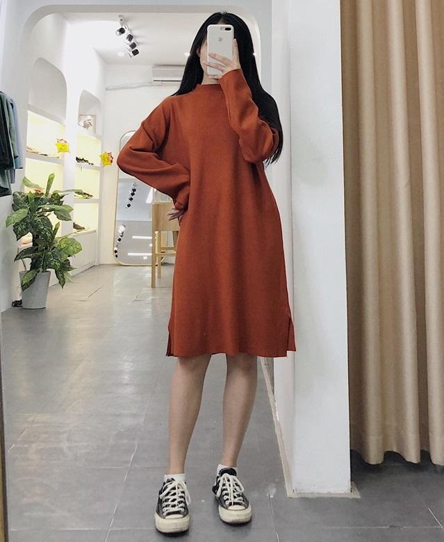 Váy len dáng suông – sự lựa chọn hoàn hảo cho các nàng mùa lạnh
