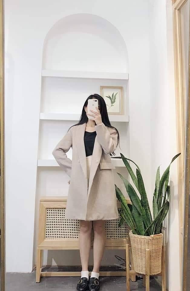 Áo khoác dáng dàimix sao cho thật xinh và ngọt ngào?