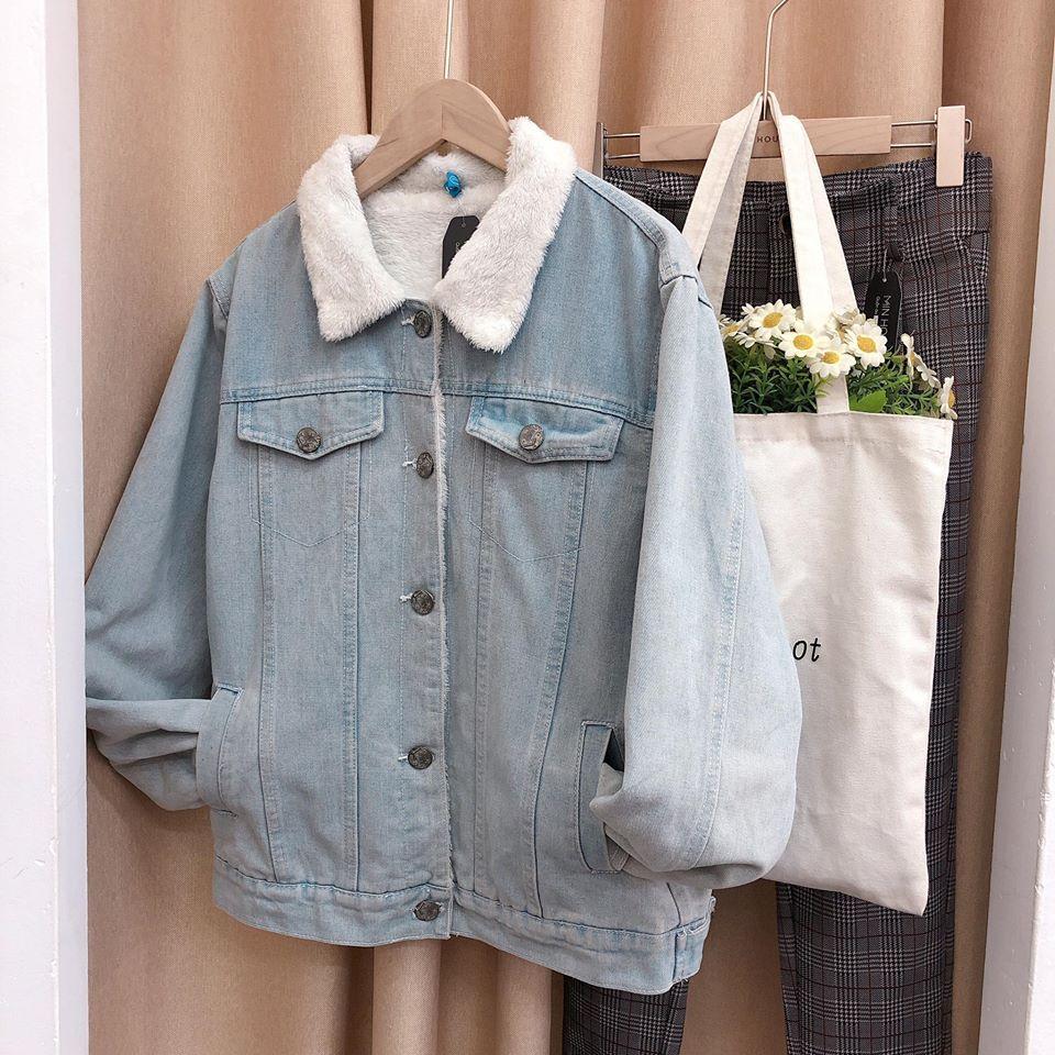Áo khoác denim lót lông vừa cá tính lại giữ ấm hiệu quả ngày gió rét