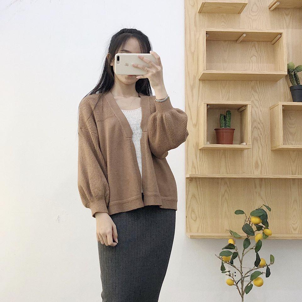 Cardigan oversize Hàn Quốc siêu xinh lung linh cho nàng đón gió