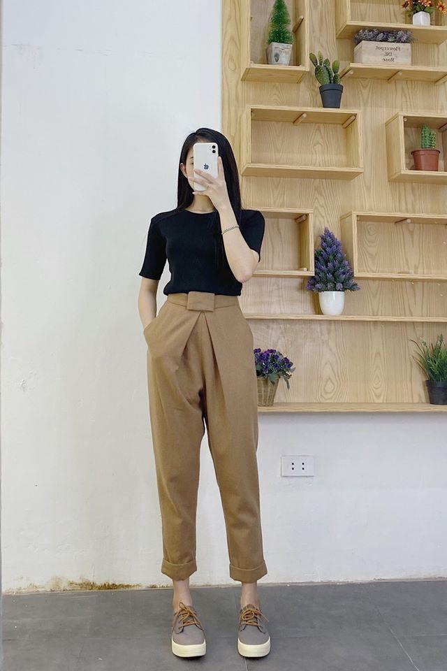 Mặc quần baggy hợp với từng dáng người cùng Min House