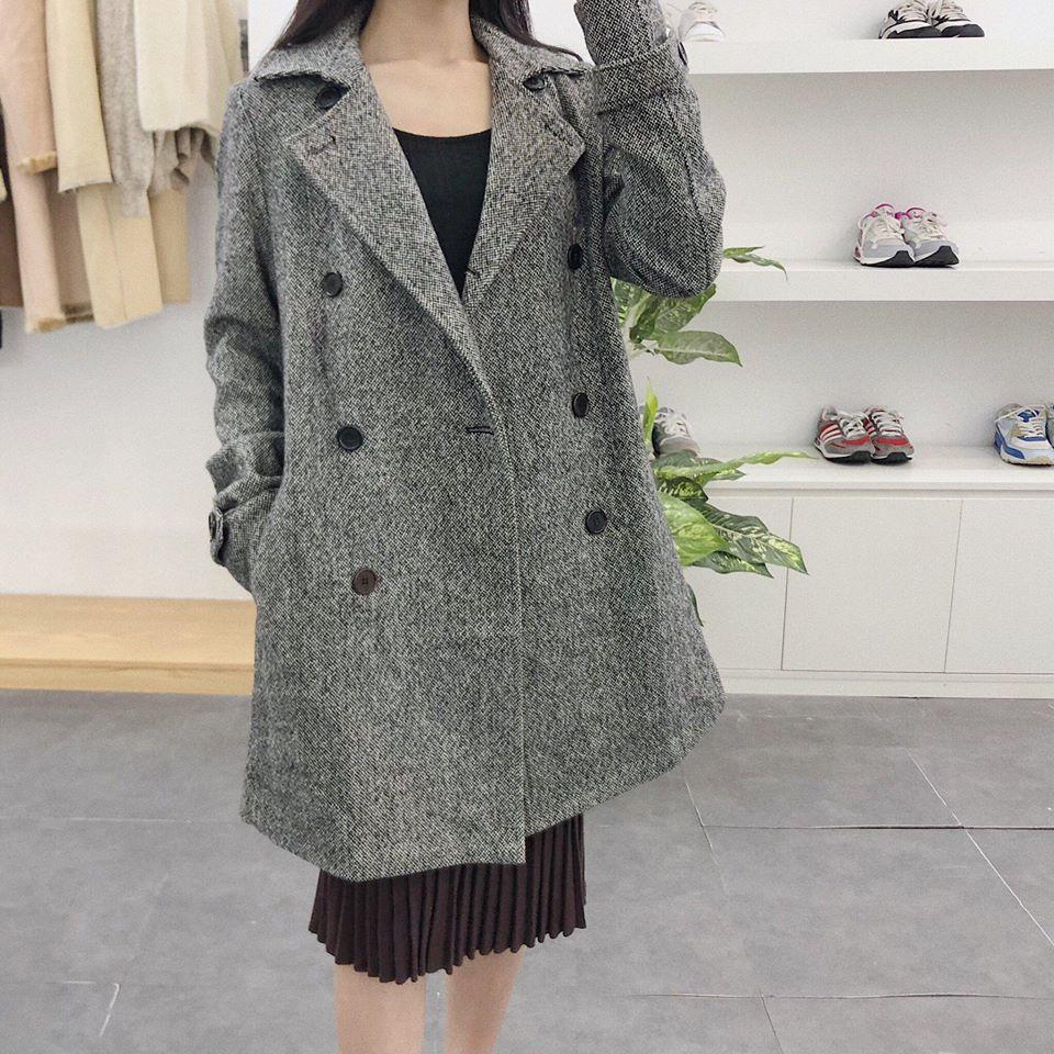 Ngọt ngào cùng áo dạ Hàn Quốc lông cừu siêu xinh, siêu ấm