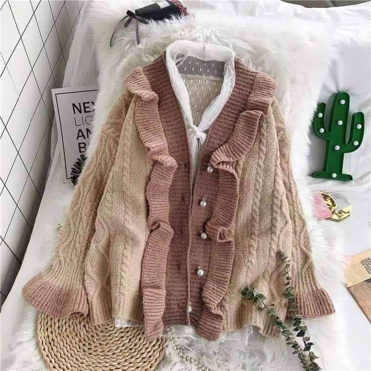 Siêu ngọt ngào với áo khoác cardigan phong cách vintage