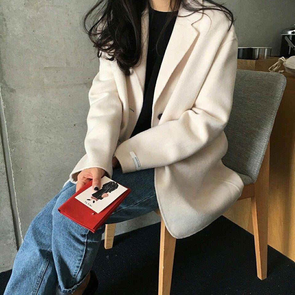 Áo dạ ép Hàn vừa đẹp vừa ấm cho nàng tha hồ diện đông
