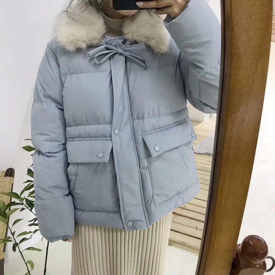 Áo khoác cổ lông vừa ấm vừa xinh tha hồ diện tết