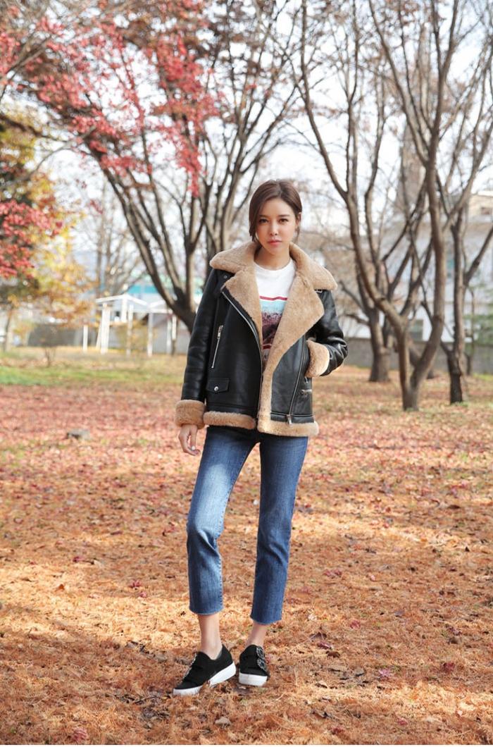 Áo khoác da dành cho cô nàng năng động và cá tính