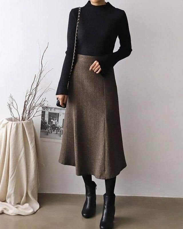 Diện chân váy xoè dài cho tết thêm phần nổi bật và nữ tính