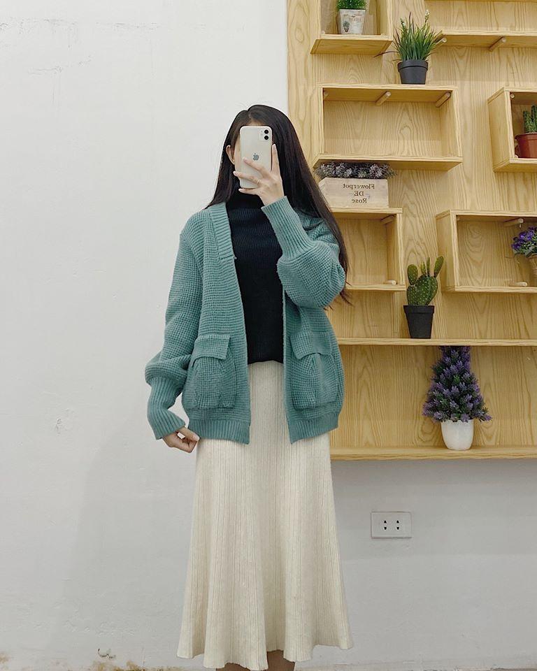 Mặc đẹp với áo khoác cardigan dáng ngắn cùng Min House