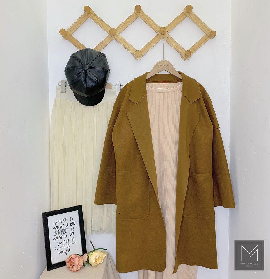 Mix áo khoác dạ dáng dài thật thời trang cùng Min House