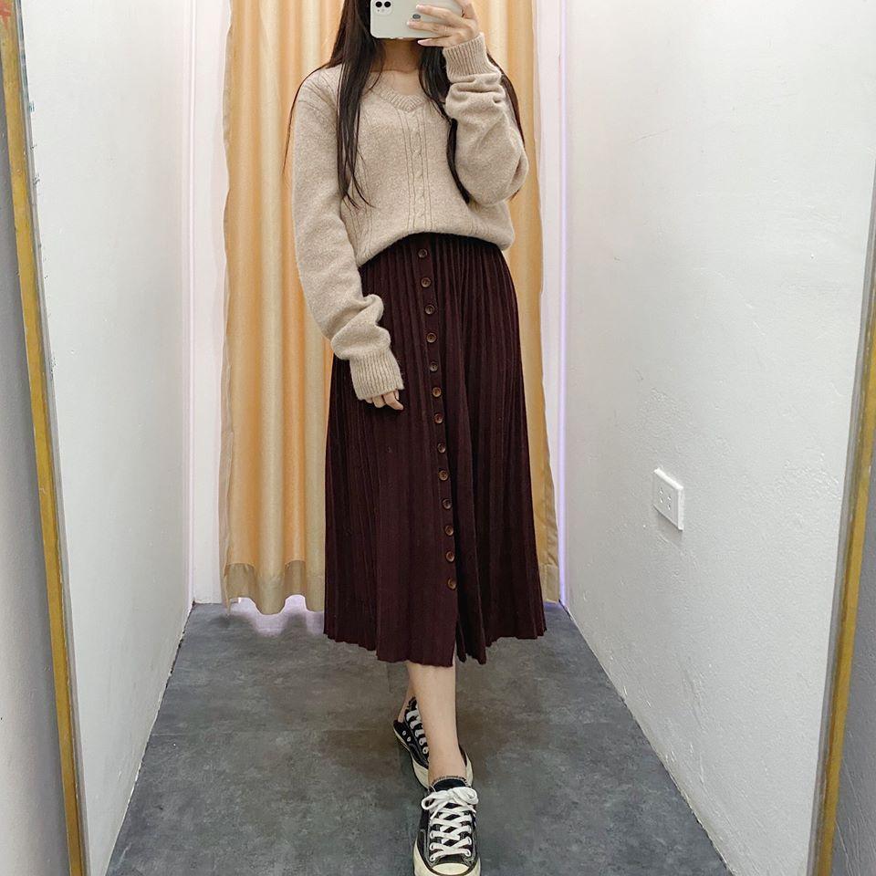 Tự tin khoe dáng với chân váy xoè năng động
