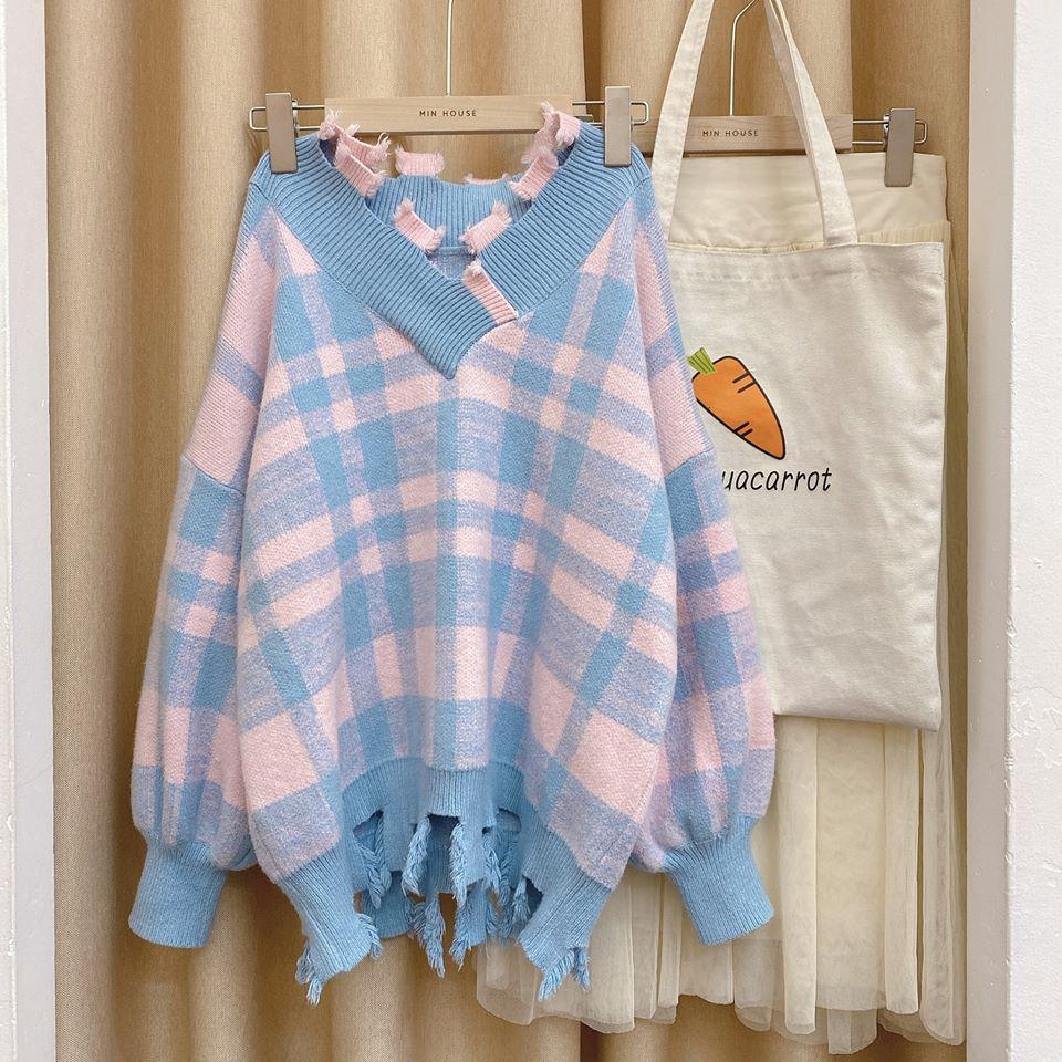 Áo len tua rua – mặc xinh, thời trang chuẩn phong cách Hàn Quốc