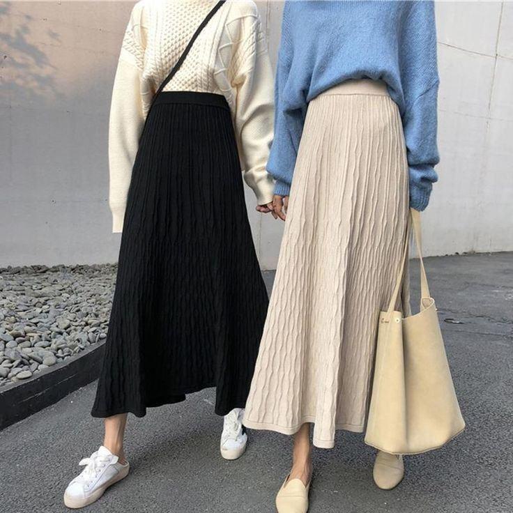 Điểm danh những cách phối đồ với chân váy dài siêu xinh cho các nàng