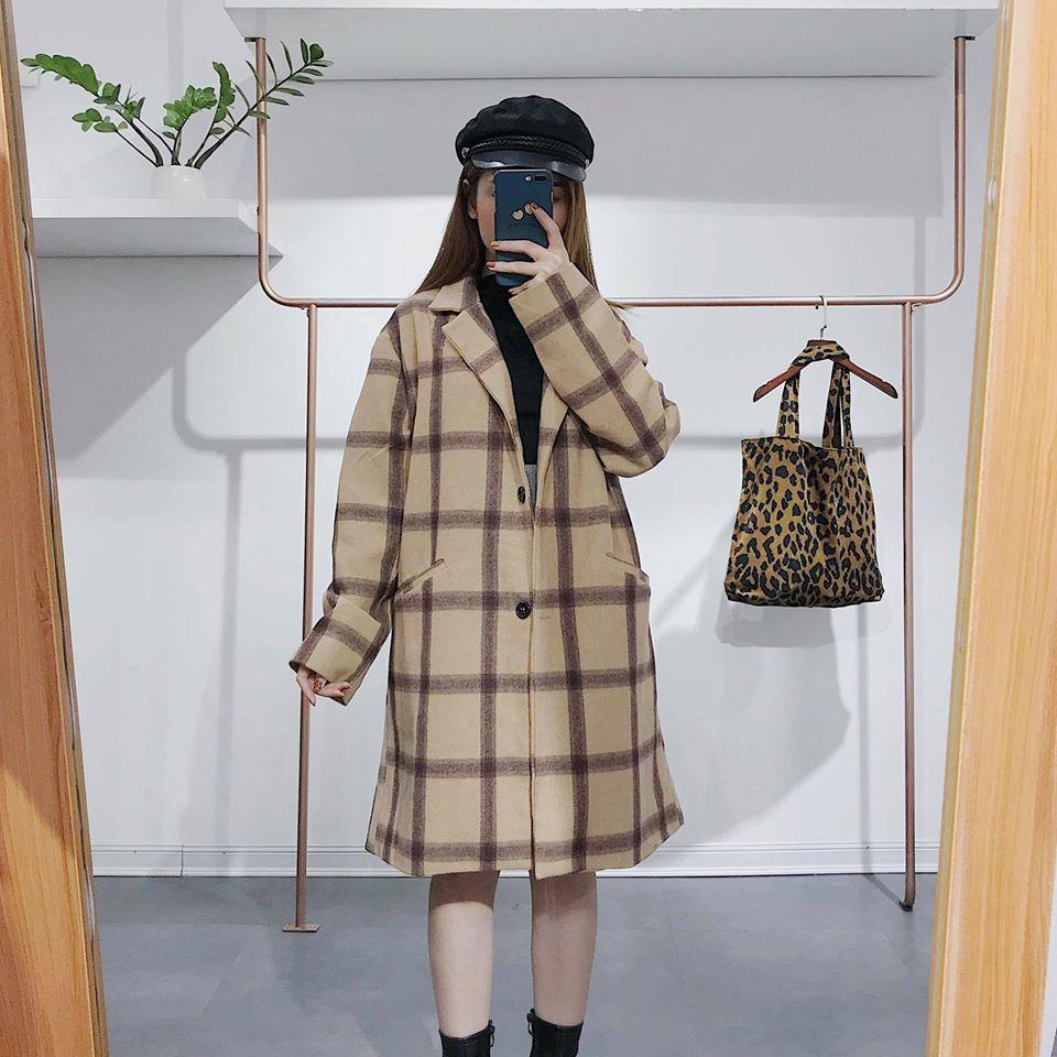 Mix đồ với áo dạ dáng dài chuẩn phong cách Hàn Quốc