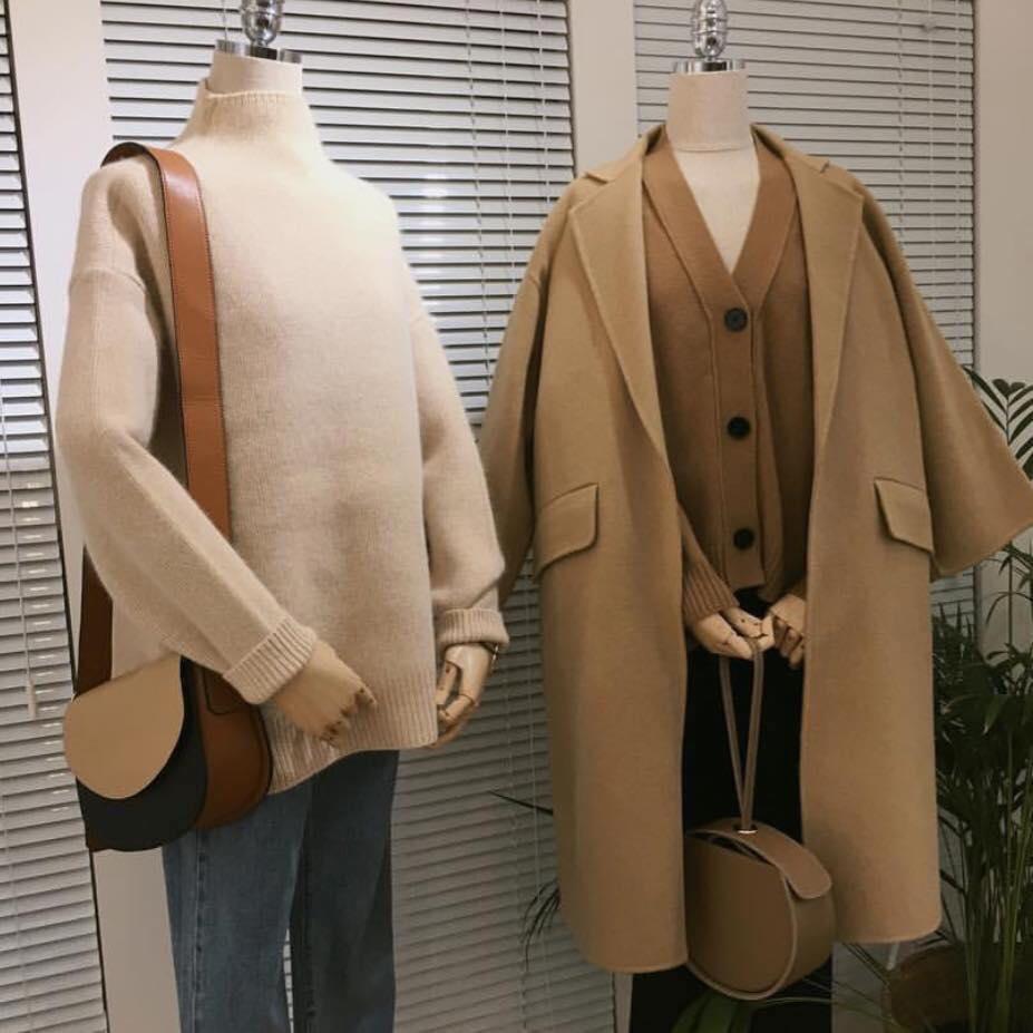 Những mẫu áo dạ màu camel siêu xinh nhà Min cho các nàng toả sáng
