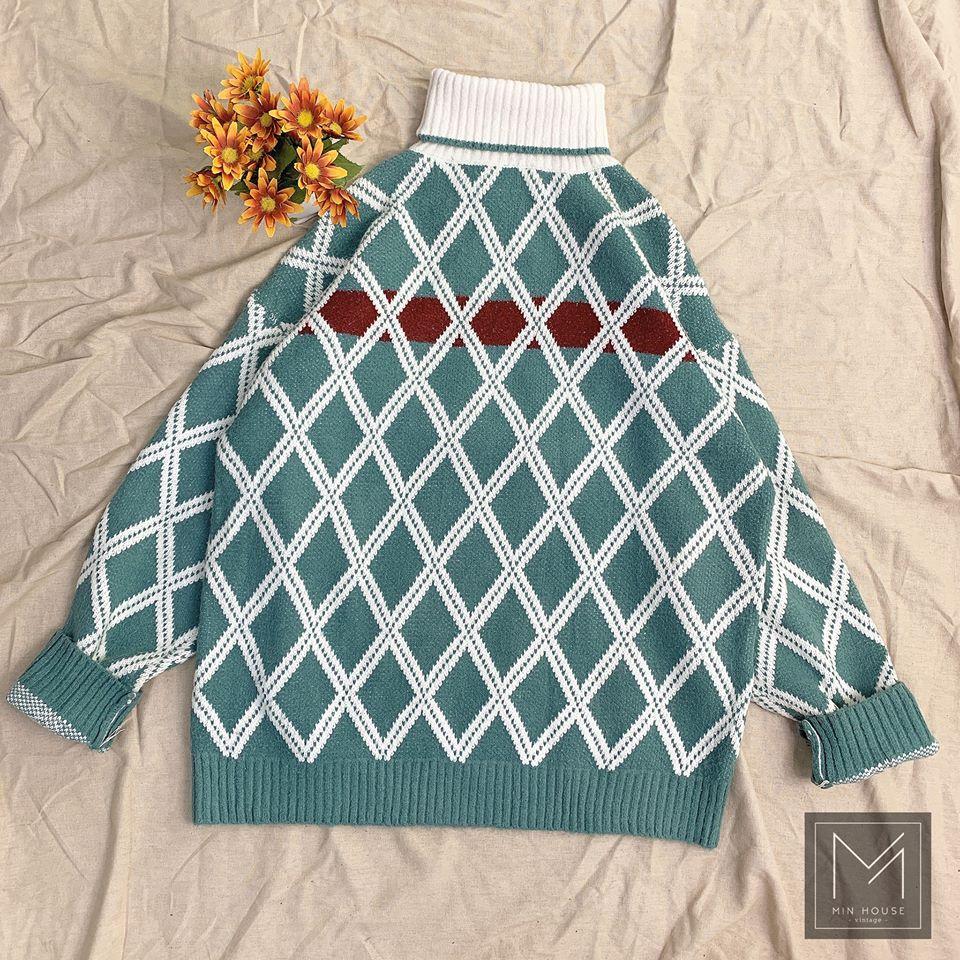 Phong cách đậm chất Hàn cùng áo len quả trám