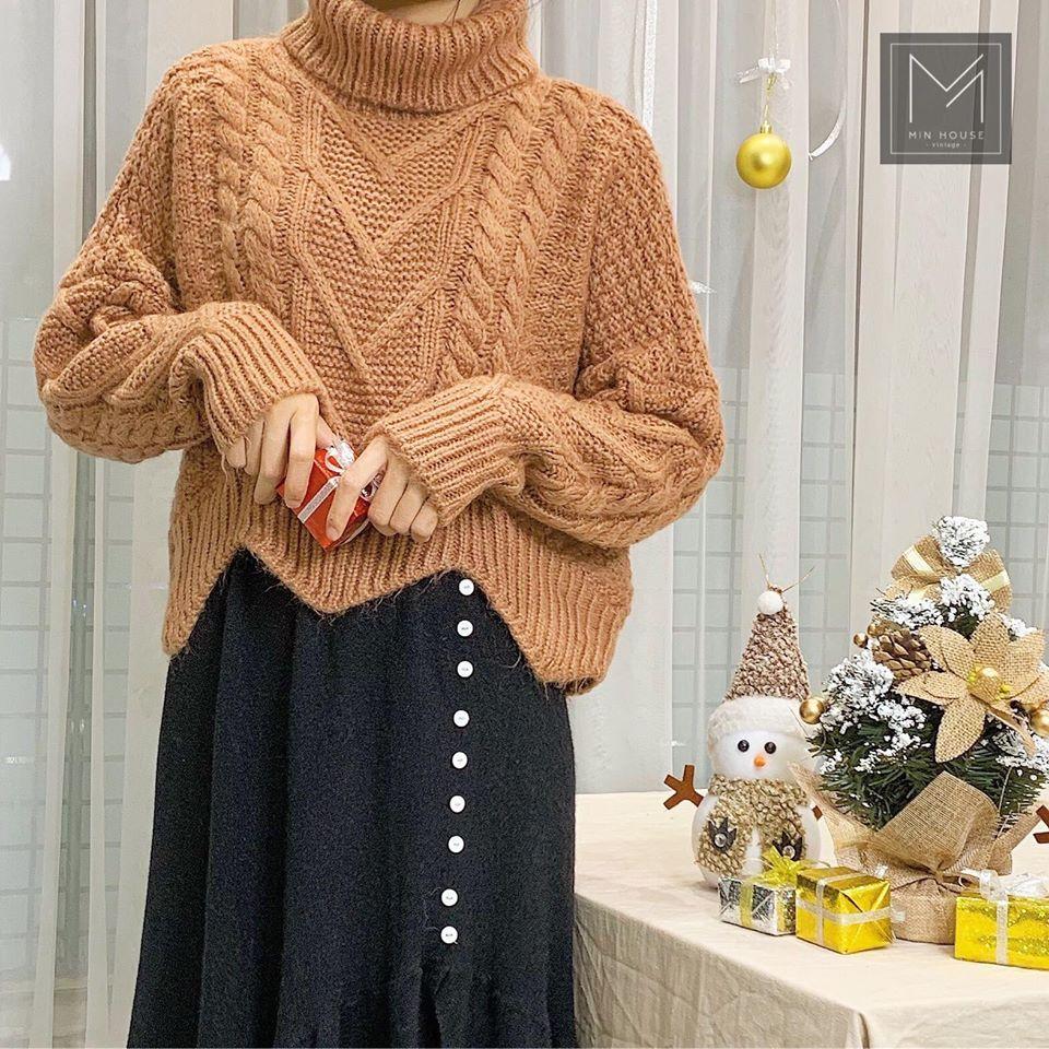 Trẻ trung và ấm áp ngày lạnh với áo len vặn thừng