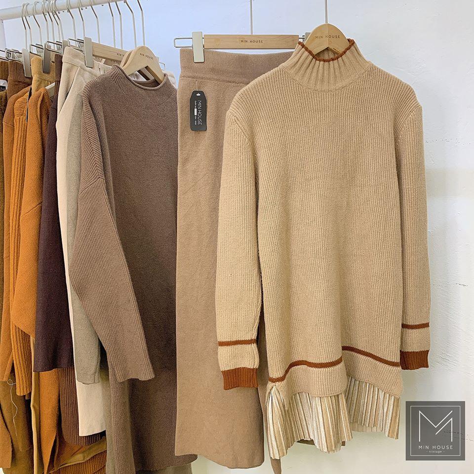 Váy len dáng suông siêu ấm áp cho mùa đông