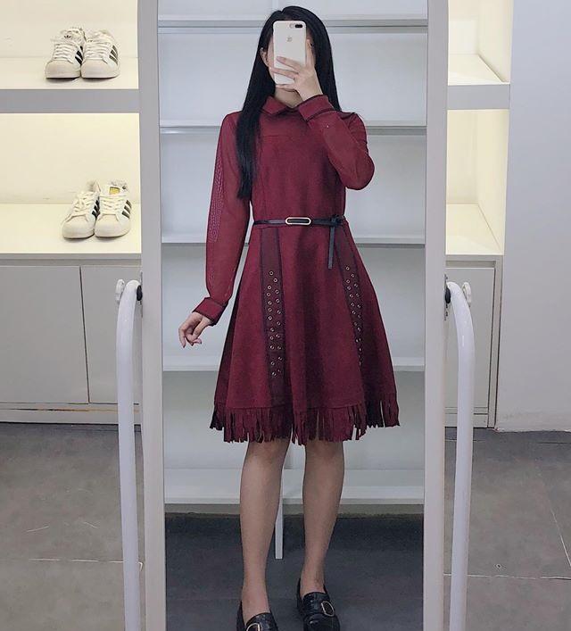 Váy thắt eo điểm nhấn hoàn hảo cho các nàng khoe dáng