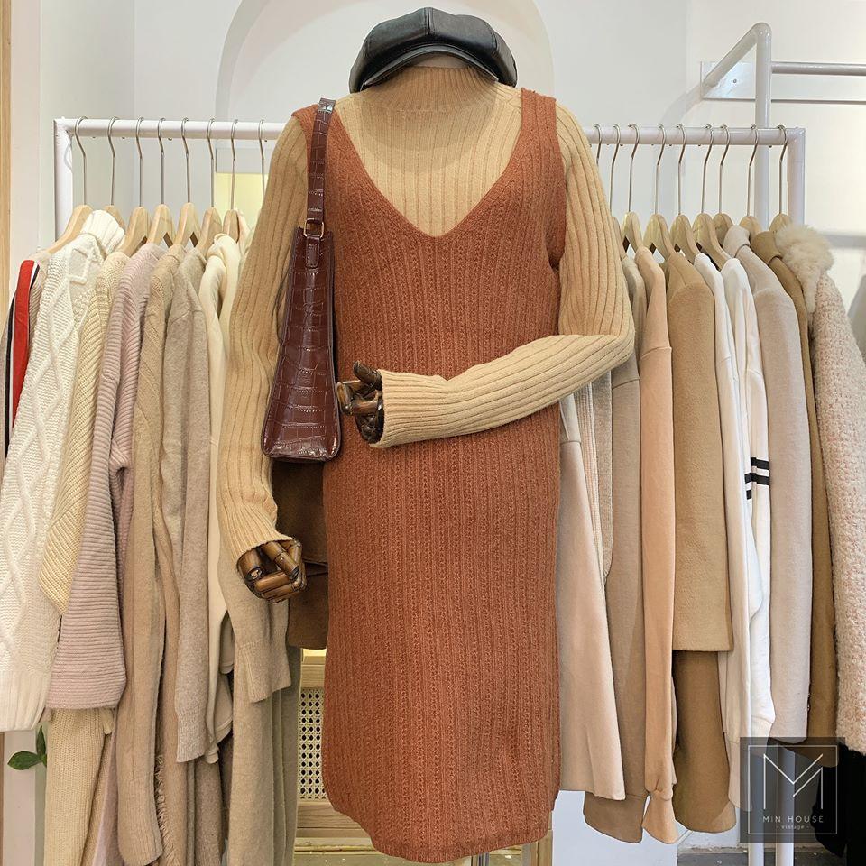 Váy yếm công sở Hàn Quốc vừa lịch sự lại trẻ trung, thoải mái