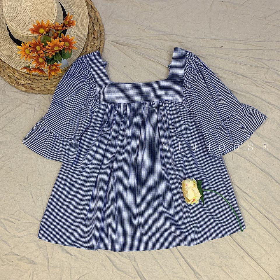 Áo baby doll cổ vuông siêu dễ thương cho các nàng diện ngày hè