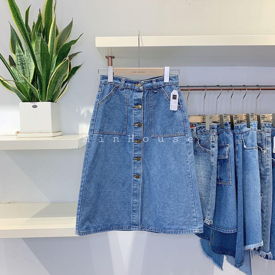 Chân váy jean hàng thùng