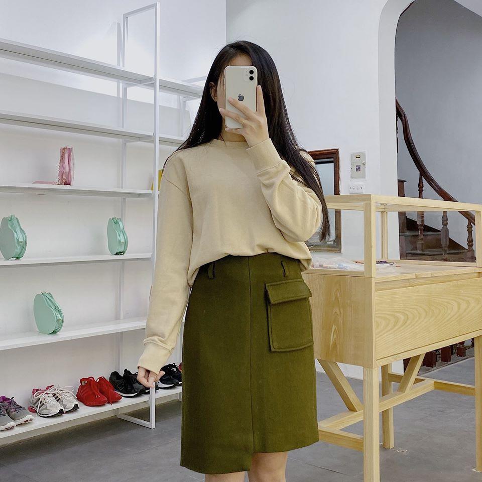 Chân váy xanh rêu phối như thế nào cho đẹp, sang và không quá dừ?