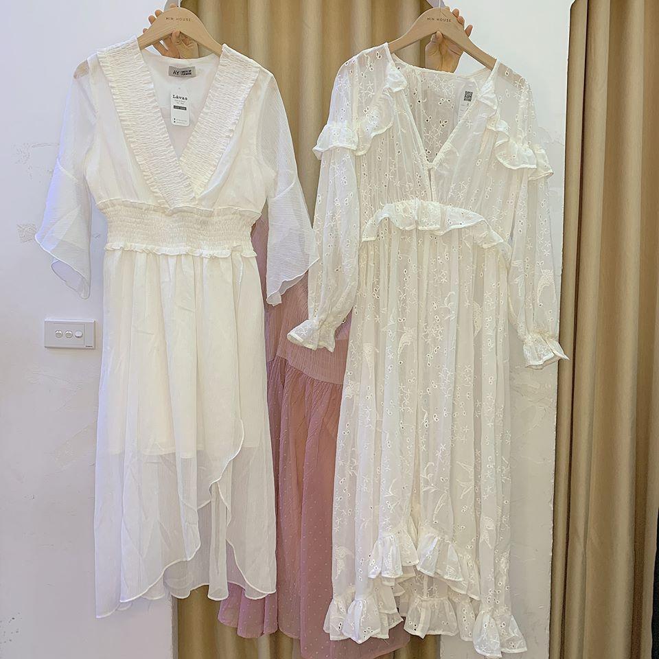Đầm trắng tiểu thư cho các nàng tha hồ thả dáng