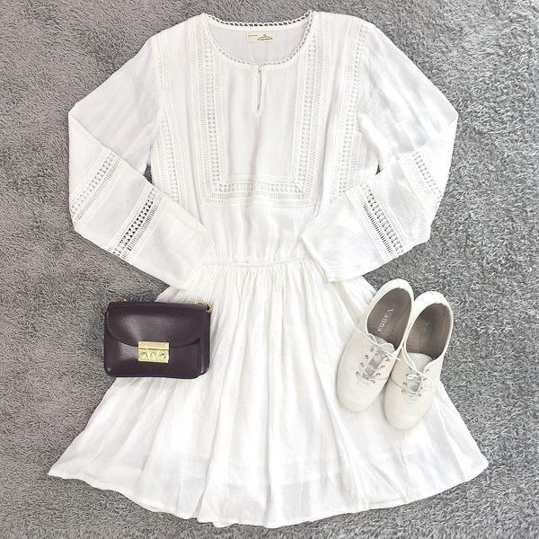 Diện váy trắng cho các nàng thêm nữ tính và ngọt ngào