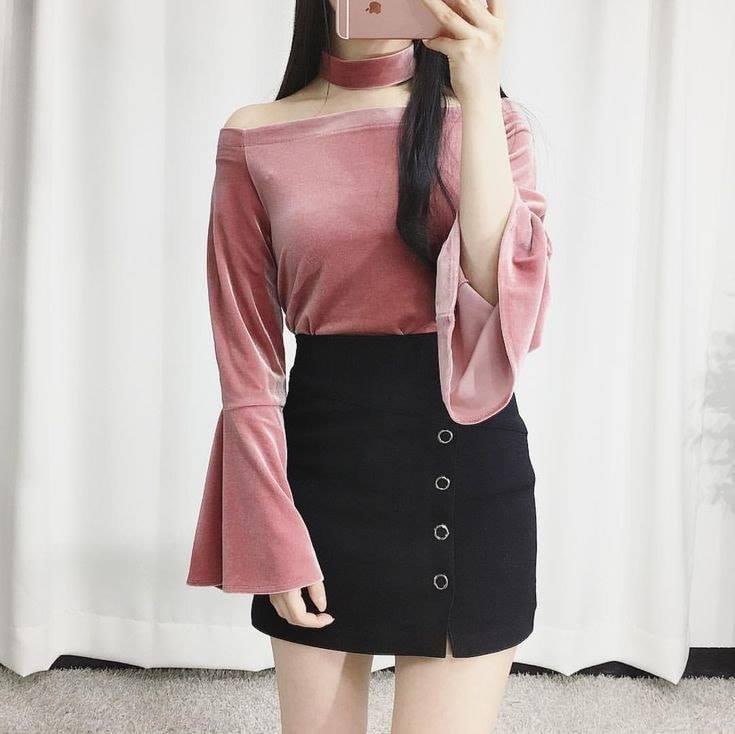 Mix áo trễ vai và chân váy siêu xinh cho nàng thêm nữ tính