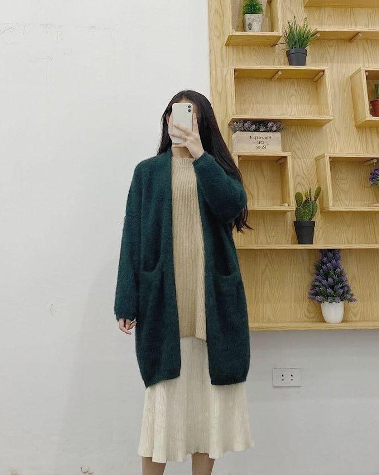 Diện áo khoác len trong những ngày trở lạnh